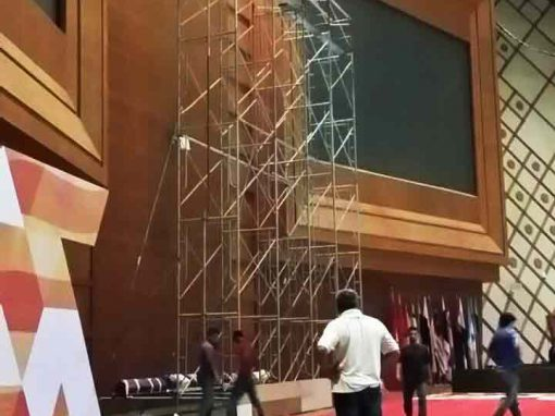 Indoor Scaffolding for Backdrop in PICC