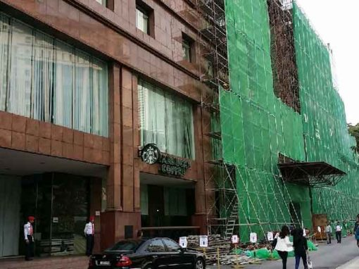 Scaffold for Granite Cladding Remedial Work at Menara Olympia KL