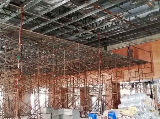 Scaffolding platform for Plaster Ceiling Installation Work
