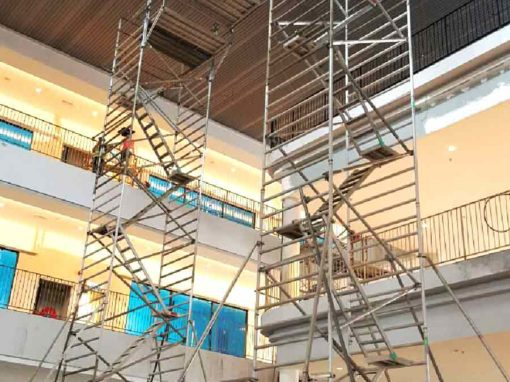 Mobile Aluminium Tower Scaffold with Bridge