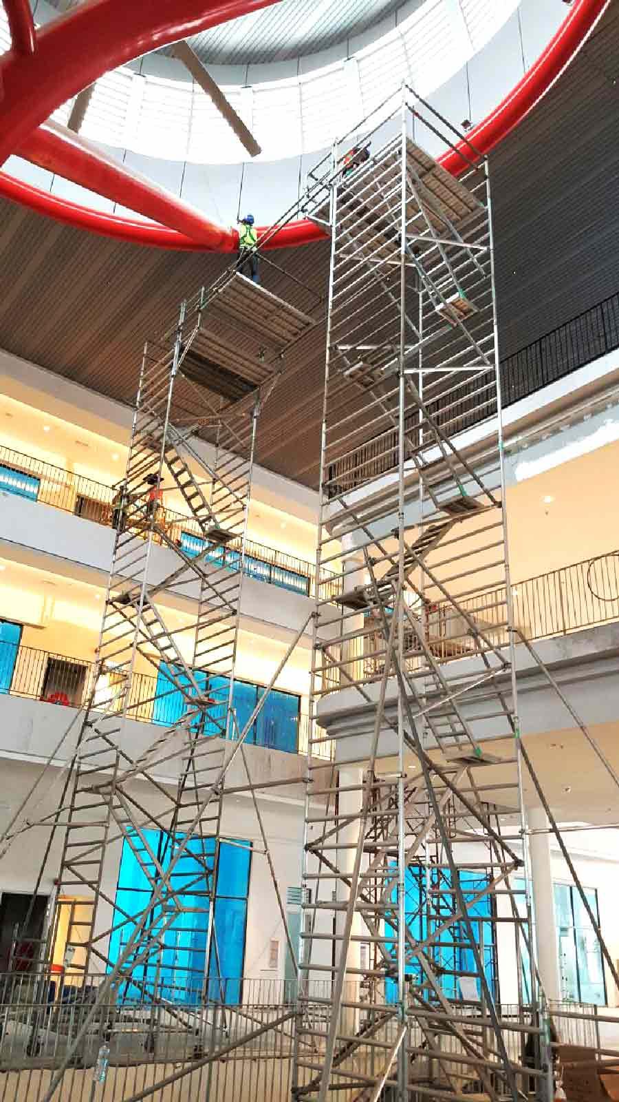 Mobile Aluminium Scaffold Twin Tower