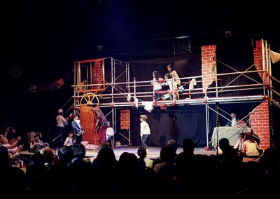 Scaffolding for drama show