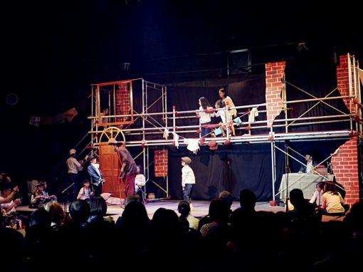 Scaffolding for drama show