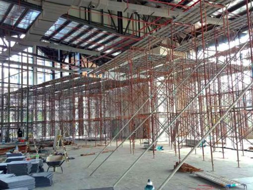 Scaffolding for Plaster Ceiling