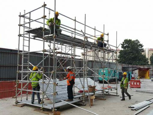 Tubular Scaffold Platform for safety training