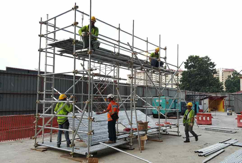 Tubular Scaffold Platform for safety training