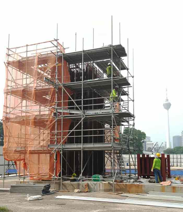 Scaffolding project at KL118
