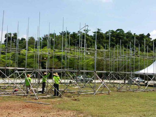 Tubular scaffold for Hari Belia event at Putrajaya