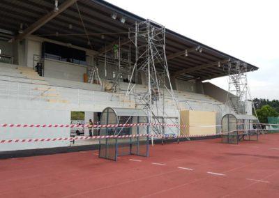 Tower scaffold with cantilever platform @MMU, Cyberjaya